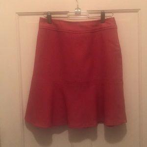 Pink wool mini skirt